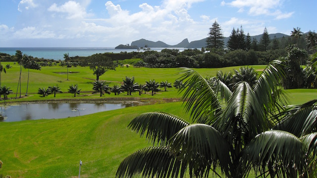 Golf Course on Lord Howe Island