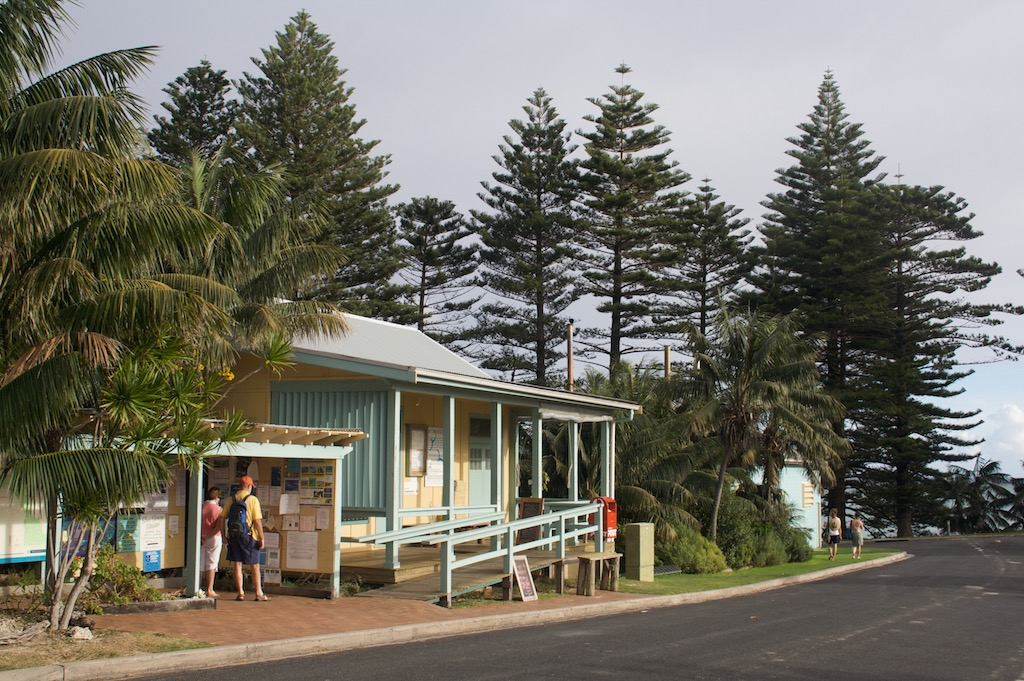 The local post office and noticeboard