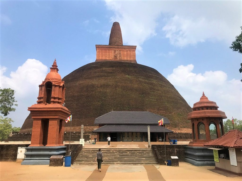 Abhayagiri Dagoba in Anuradhapura, a World Heritage Site in Sri Lanka