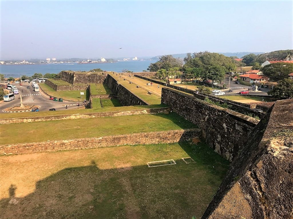 Bastion walls surrounding the town of Galle