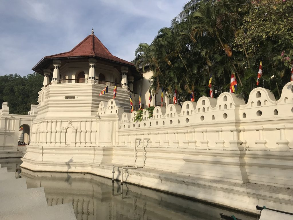 Temple of the Golden Tooth Relic in Kandy, a World Heritage Site in Sri Lanka