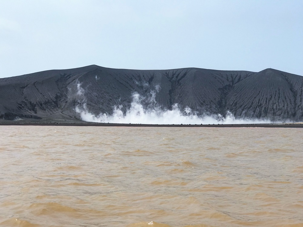Volcanic crater at the Anak Krakatoa World Heritage Site in Java