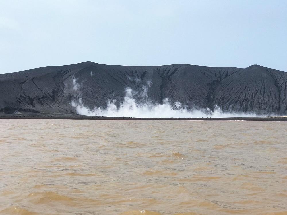 Volcanic crater at the Anak Krakatoa World Heritage Site in Java
